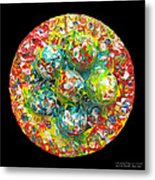 Six  Colorful  Eggs  On  A  Circle Metal Print