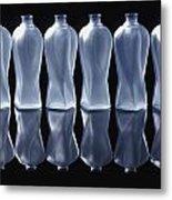 Six Glass Bottles Metal Print by David Chapman