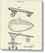 Skateboard Coaster Car 1948 Patent Art  Metal Print