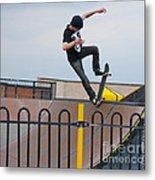 Skateboarding Ix Metal Print