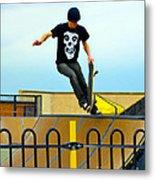 Skateboarding Xi Metal Print