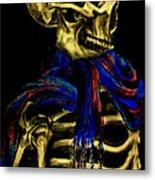 Skeleton Fashion Victim Metal Print