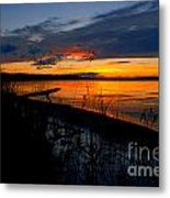 Skeloton Lake Sunset Hdr Metal Print