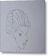 Sketched Expression Series - Serene Pose Metal Print by Stephanie Ward