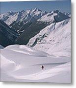 Skier Phil Atkinson Heads Down Mount Metal Print
