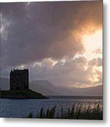 Skies Ablaze At Castle Stalker Metal Print