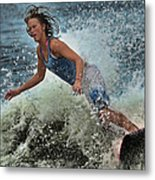 Skimmer Girl 1 Metal Print