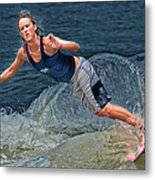 Skimmer Girl 2 Metal Print