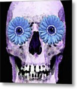 Skull Art - Day Of The Dead 3 Metal Print