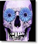 Skull Art - Day Of The Dead 3 Metal Print by Sharon Cummings
