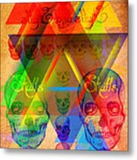 Skulls And Skulls Metal Print by Kenal Louis