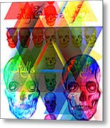 Skulls Illuminate Skulls Metal Print by Kenal Louis