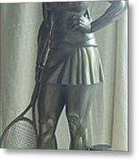 Skupture Tennis Player Metal Print