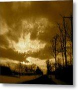 Sky Ablaze Metal Print