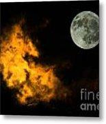 Sky And Moon Metal Print