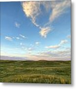 Sky At Sunset, Grasslands National Metal Print