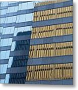Sky Scraper Tall Building Abstract With Windows And Reflections No.0102 Metal Print