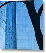 Sky Scraper Tall Building Abstract With Windows Tree And Reflections No.0066 Metal Print