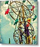 Sky Wheel Carnival Ride Metal Print