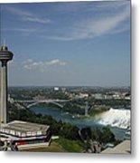 Skylone Tower And Niagara Falls Metal Print