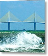 Skyway Splash Metal Print by David Lee Thompson