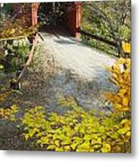 Slaughter House Bridge And Fall Colors Metal Print