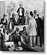 Slavery Auction, In The United States Metal Print