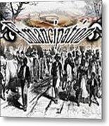 Slaves Traveling To Freedom Land Metal Print by Belinda Threeths