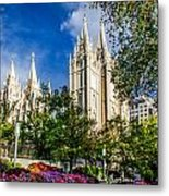 Slc Nw View Metal Print by La Rae  Roberts