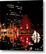 Slc Temple Nativity Pond Metal Print