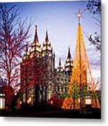 Slc Temple Tree Light Metal Print