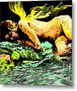 Sleeping Fairy Metal Print