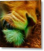 Sleeping Lion 2 Metal Print