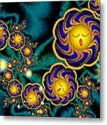 Sleepy Whirling Little Suns Metal Print