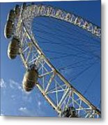 Slice Of The Wheel Of London Eye From An Angle Metal Print