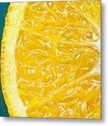 Sliced Orange Metal Print