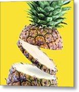 Sliced Pineapple Metal Print