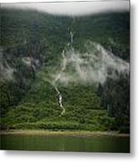 Slim Waterfall From The Haze Metal Print