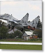 Slovak Air Force Mig-29 Fulcrum Taking Metal Print