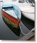 Small Boat In Harbor Metal Print