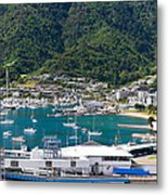 Small Idyllic Yacht Harbor  Metal Print