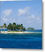 Small Palm Tree Covered Islands In Blue Metal Print
