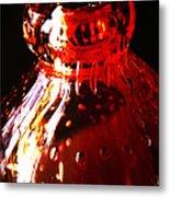 Small Red Vase Metal Print