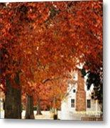 Small Town Autumn -1 Metal Print