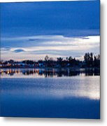 Small Town Reflections Metal Print