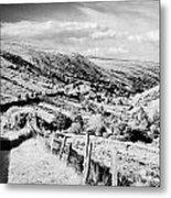 Small Twisty Narrow Country Mountain Road Through Glendun Scenic Route Glendun County Antrim Metal Print by Joe Fox