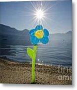 Smile Flower On The Beach Metal Print