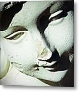 Smile On Her Face Metal Print