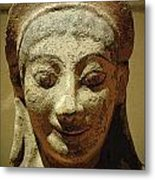 Smiling Goddess Metal Print