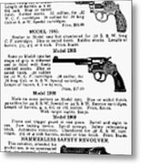 Smith & Wesson Revolvers Metal Print